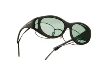 Cocoons Stream Line Over-Glasses Sunglasses, SM Black Frame, Gray Lenses C602G