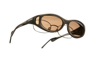 Cocoons Streamline Over-Glasses Sunglasses, SM Sand Frame, Amber Lenses C605A