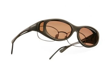 Cocoons Streamline Over-Glasses Sunglasses, SM Sand Frame, Copper Lenses C605C
