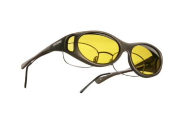 Cocoons Streamline Over-Glasses Sunglasses, SM Sand Frame, Yellow Lenses C605Y