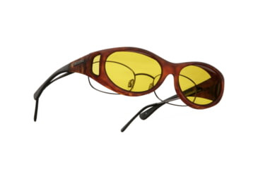 Cocoons Streamline OveRx Sunglasses, SM Tort Frame, Yellow Lenses C607Y
