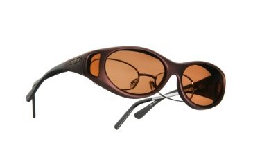 Cocoons Stream Line OveRx Sunglasses, SM Burgundy Frame, Copper Lenses C609C
