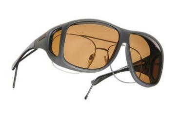 Cocoons Aviator OveRx Sunglasses, XL Slate Frame, Amber Lenses C208A