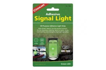 Coghlans Adhesive Signal Light, Green, 375 Mcd, 80 hr. Runtime 189422