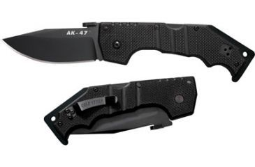 Cold Steel AK-47 Folding Knife, Black G-10 Handle, Black Blade, Plain 58TLAK