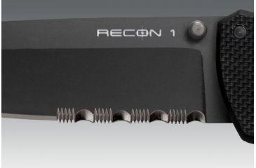 Cold Steel Recon 1, Black G-10 Handle, Black Tanto Bl, Combo 27TLTH