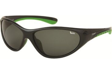 Coleman 6006 Single Vision Prescription Sunglasses - Black And Green Frame CC1 6006-C1RX