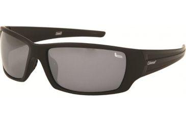 Coleman 6008 Polarized Sunglasses - Matte Black And White Flash Frame, Smoke white Lenses CC1 6008-C2