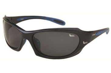 Coleman 6012 Polarized Sunglasses - Black And Blue Frame, Smoke Lenses CC1 6012-C1