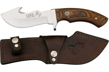 Colt Serengeti Skinner Fixed Blade Knife, 4.75in, Guthook Blade, Pakkawood Handle CT7