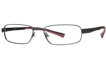 Columbia Big Bend Bifocal Prescription Eyeglasses - Frame Shiny Black/Black-Red, Size 58/18mm CBBIGBEND01