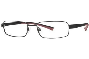 Columbia Big Cypress Bifocal Prescription Eyeglasses - Frame Shiny Gun/Black-Red, Size 57/18mm CBBIGCYPRESS01