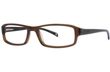 Columbia Boone Bifocal Prescription Eyeglasses - Frame Transparent Brown/Black, Size 54/16mm CBBOONE01