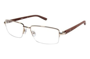 Columbia CROWN POINT 200 Eyeglass Frames - Frame GOLD/BROWN, Size 58/18mm CBCROWNPT20003