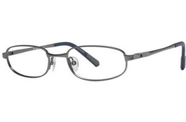 Columbia Grizzly Creek 101 Single Vision Prescription Eyeglasses - Frame Brushed Silver, Size 48/17mm CBGRIZZCREEK10103