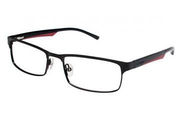 Columbia James Peak Single Vision Prescription Eyeglasses - Frame Black/Red, Size 53/17mm CBJAMESPEAK03