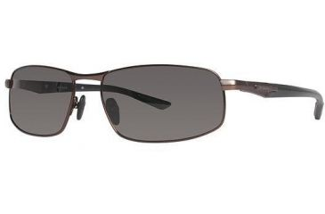 Columbia JET STREAM 300 Sunglasses - Frame Shiny Brown/Black, Lens Color Grey, Size 63/17mm CBJETSTRM30004