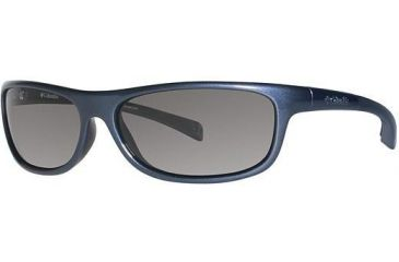 Columbia Panorama Sunglasses - Frame Metallic Carbon Blue/Metallic Dark Gunmetal, Lens Color Grey, Size 58/14mm CBPANORAMAPZ612