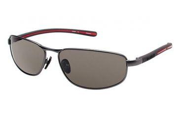 Columbia Ripsaw 100 Bifocal Prescription Eyeglasses - Frame MATTE GUNMETAL/BLACK, Lens Color Smoke CBRIPSAW10002