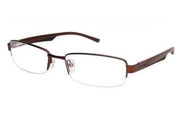 Columbia Rogers Peak Single Vision Prescription Eyeglasses - Frame Brown/Black CBROGERSPEAK01