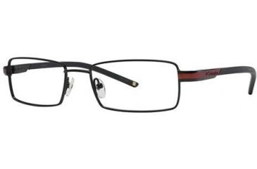 Columbia Silver Falls 100 Single Vision Prescription Eyeglasses - Frame Black/Red, Size 51/17mm CBSILVERFALLS10001