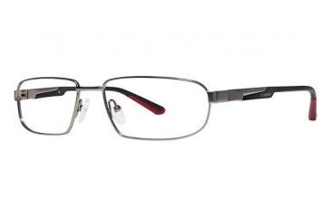 Columbia Southbend Single Vision Prescription Eyeglasses - Frame PEWTER/RED, Size 55/16mm CBSOUTHBND02