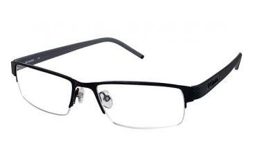 Columbia Steens Mt. Bifocal Prescription Eyeglasses - Frame Black w. Black/Grey Temple, Size 52/17mm CBSTEENSMT02