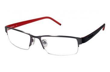 Columbia Steens Mt. Bifocal Prescription Eyeglasses - Frame Gun w. Black/Red Temple, Size 52/17mm CBSTEENSMT01