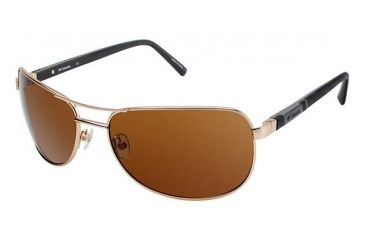 Columbia TIMPANOGAS Sunglasses - Frame GOLD/BLACK, Lens Color Brown, Size 63/17mm CBTIMPANOGAS04