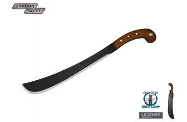 Condor Golok Machete,14.25in,Carbon Steel Blade,Brown Hardwood Handle CTK41014HCS