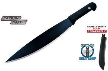 Condor Tool and Knife Baron Machete, Black Polypropylene Handle, Black Blade CTK480-14HC
