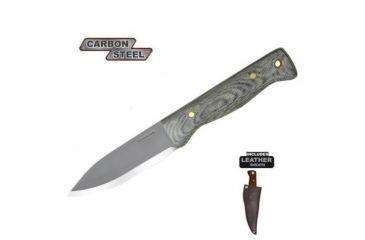 Condor Tool and Knife Bushlore Knife, Black Micarta Handle, Plain CTK232-4.3HCM
