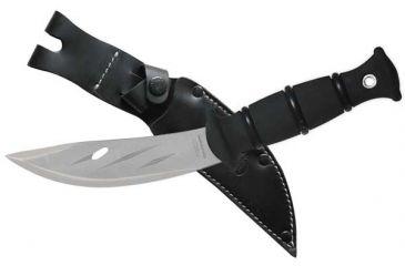 Condor Tool and Knife Condor Hunter Knife, Blasted Satin Blade, Leather Sheath CTK3056S