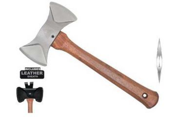 Condor Tool and Knife Thunder Bay Double Bit Cruiser Axe, Leather Sheath CTK4024C