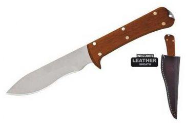 Condor Tool and Knife Two Rivers Skinner, Hardwood Handle, Plain CTK7000-4.4