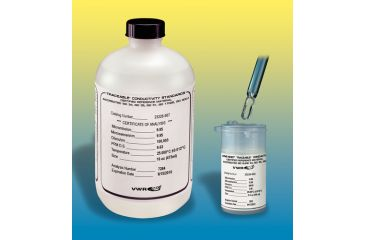 Control Company Conductivity Calibration Standards 4569 473 Ml (16 oz.) Brown Glass Bottles (NIST/ISO 17025 A2LA Certificate)