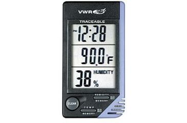 Control Company Thermometer with Clock and Humidity Monitor 4040 Vwr CLOCK/HUMIDITY Monitor