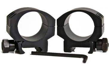 "CounterSniper Optics Scope Ring Mount Set for 30 MM-Short 1/4"" from Bottom of Scope to Top of Rail, Black DOH408"