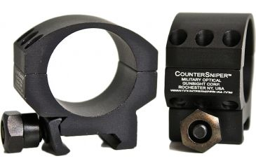 "CounterSniper Optics Single Scope Ring Mount for 30 MM-Short-1/4"" from Bottom of Scope to Top of Rail, Black DOH425"