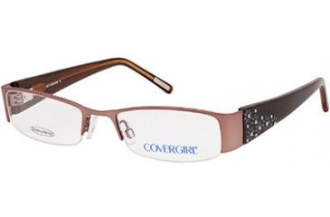 Cover Girl CG0391 Eyeglass Frames - Shiny Light Brown Frame Color