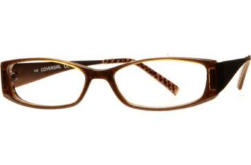 Cover Girl CG0412 Eyeglass Frames - Shiny Dark Brown Frame Color