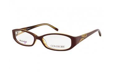 Cover Girl CG0431 Eyeglass Frames - Light Brown Frame Color