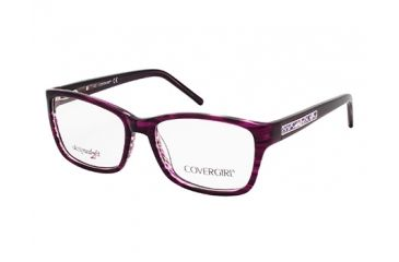 Cover Girl CG0434 Eyeglass Frames - Shiny Violet Frame Color