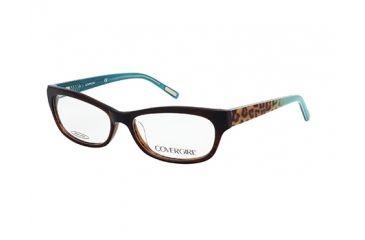 Cover Girl CG0512 Eyeglass Frames - Shiny Dark Brown Frame Color