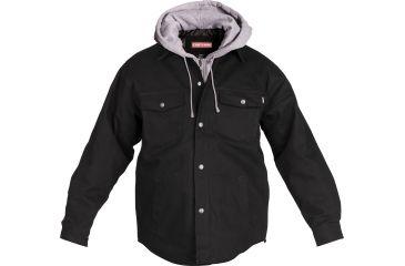 Craftsman Hooded Duck Shirt Jacket Black, Medium 25596-M