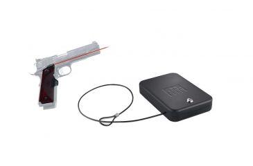 Crimson Trace 1911 Master Series Full-Size Laser Grip, Rosewood, LG901 & FREE Nanovault NV 200 Hand Gun Safe