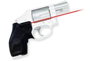 Crimson Trace Lasergrip Sight, Black - Smith & Wesson J-Frame Round Butt LG405