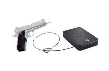 Crimson Trace Master Series Rosewood LG 903 1911 Bobtail Government/Commander & FREE Nanovault NV 200 Hand Gun Safe