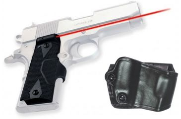 Crimson Trace Pistol Lasergrips - 1911, GOULD, Full-Size Grip and Leather Holster Combo LG-401H GOULD