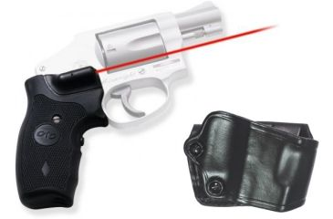 Crimson Trace Smith & Wesson J Frame Lasergrips, GOULD, Grip and Leather Holster Combo LG-305H GOULD